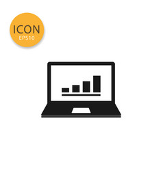 laptop icon isolated flat style vector image