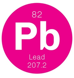 Lead chemical element vector image