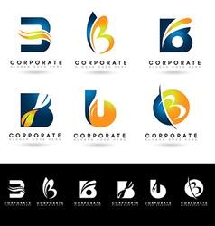 Letter B Logo Designs vector