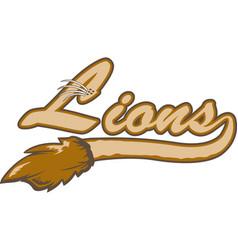 lion logo mascot font vector image