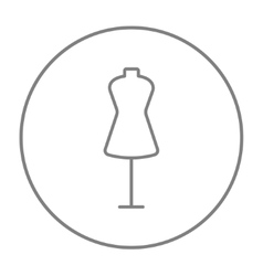Mannequin line icon vector image