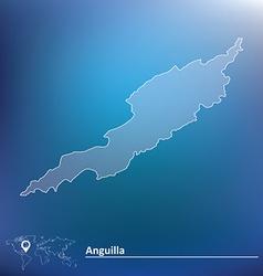 Map of Anguilla vector