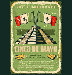 Mexican fiesta cinco de mayo sketch poster vector