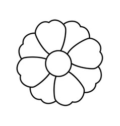 Monochrome silhouette with flower icon floral vector