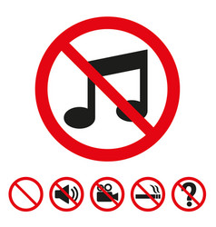 no music sign on white background vector image