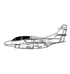 north american t-2 buckeye vector image