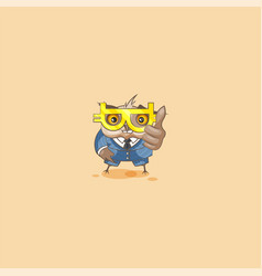 owl in business suit with glasses vector image