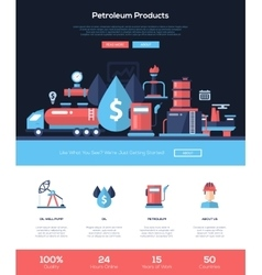 Petroleum products website header banner with vector