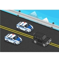 Police Motorcade Car Flat Design vector