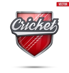 Premium symbol of Cricket label vector