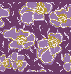 pretty bold flower pansy blooms pattern seamless vector image