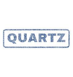 Quartz textile stamp vector