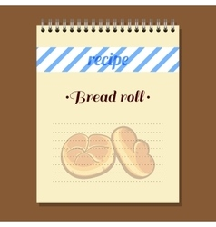 Recipe Book Bread Roll vector