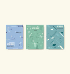 Retro design templates for a4 covers in 80s vector