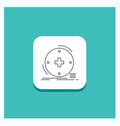 round button for clinical digital health vector image