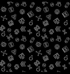 Science and cloning seamless pattern in vector