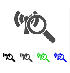 Search wi-fi network flat icon vector