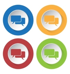 set of four icons with speech bubbles vector image
