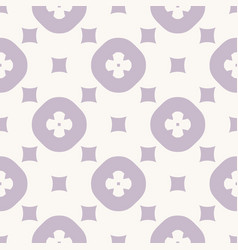simple abstract geometric floral seamless pattern vector image