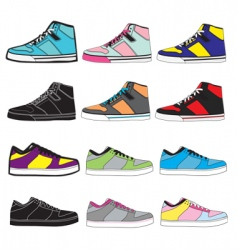 sneakers set illustration vector image