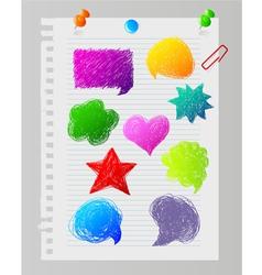 speech bubble paper vector image