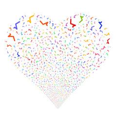 sqrt fireworks heart vector image
