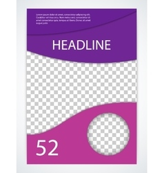Stock brochure template magazine Cover vector