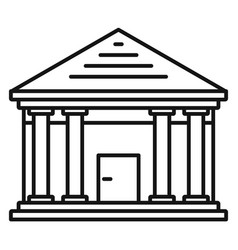 stone courthouse icon outline style vector image