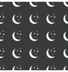 Straight black night pattern vector