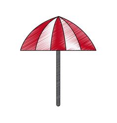 Striped parasol or umbrella icon image vector