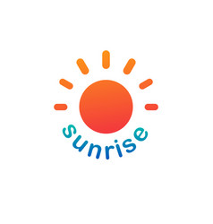 sunshine sunrise logo on white background vector image