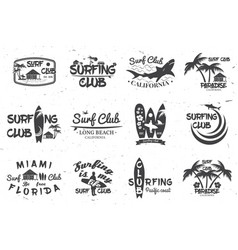 Surf club and surf school design vector