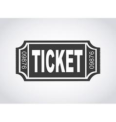 ticket design vector image