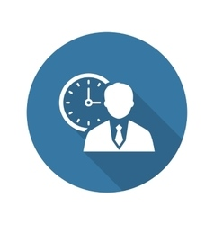 Time Management Icon Business Concept Flat vector image