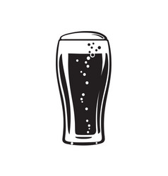 Tulip beer glass hand drawn vector