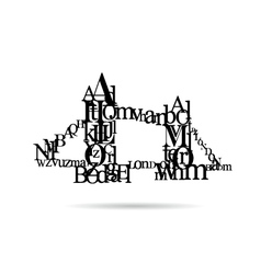 Typography London Bridge silhouette vector