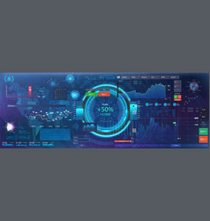 Ui ux kit hud interface futuristic infographic vector