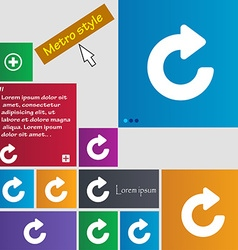Upgrade arrow icon sign metro style buttons modern vector