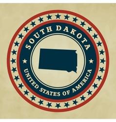 Vintage label South Dakota vector image