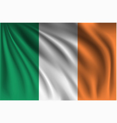 Waving ireland vector