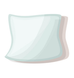 white pillow icon cartoon style vector image