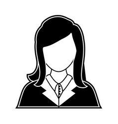 Woman lawyer icon vector