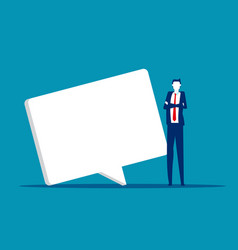 young business and a speech bubble social vector image