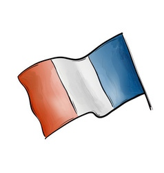 flag of france on the white vector image
