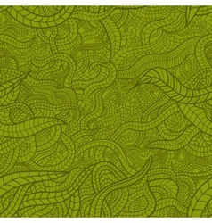 Floral seamless pattern with stylized leaves vector image