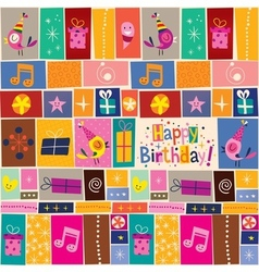 Happy Birthday pattern 2 vector image vector image