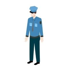 Isometric policeman icon vector image