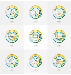 Minimal thin line design web icon set vector image vector image