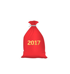 red christmas bag vector image