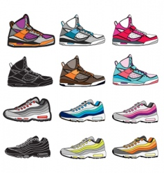 sneakers illustration vector image